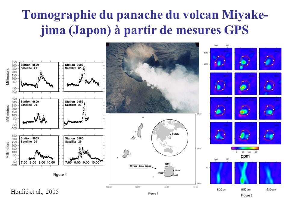 Tomographie du panache du volcan Miyake- jima (Japon) à partir de mesures GPS Houlié et al., 2005