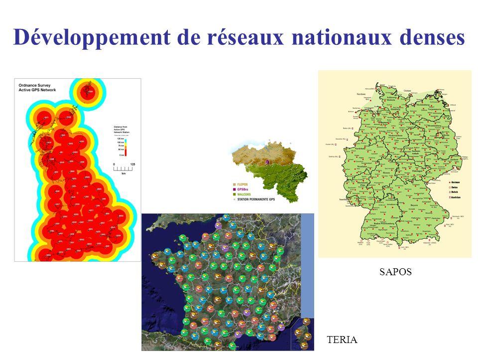 Développement de réseaux nationaux denses TERIA SAPOS