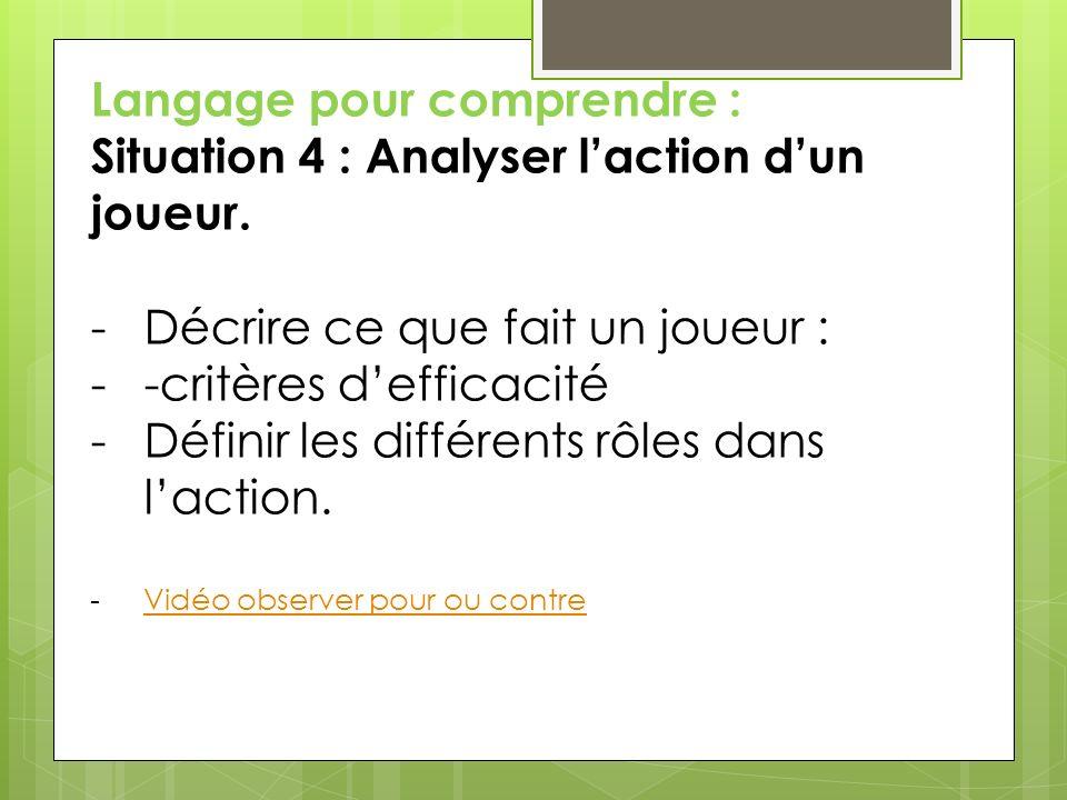 Langage en réception : Situation 5 : Présentation dune maquette du jeu.