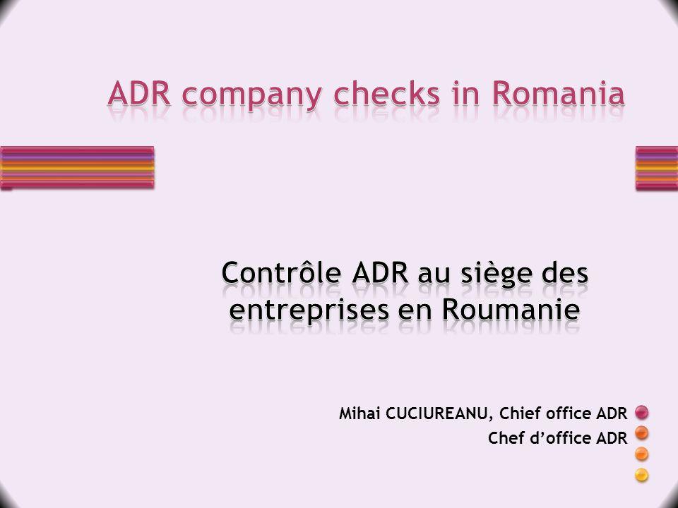 Mihai CUCIUREANU, Chief office ADR Chef doffice ADR