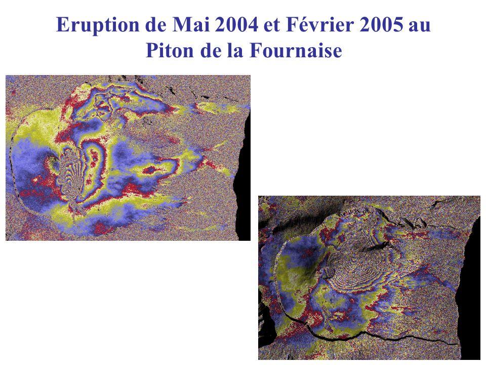 Eruption de Mai 2004 et Février 2005 au Piton de la Fournaise