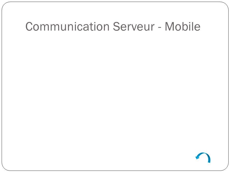 Communication Serveur - Mobile