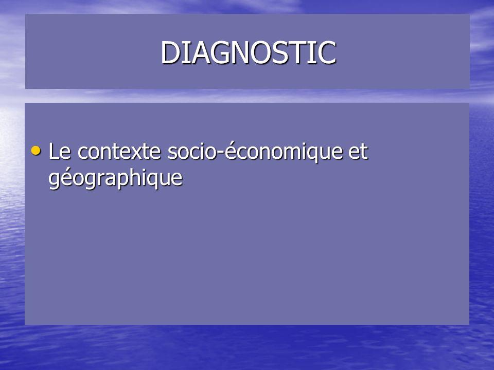 DIAGNOSTIC Le contexte socio-économique et géographique
