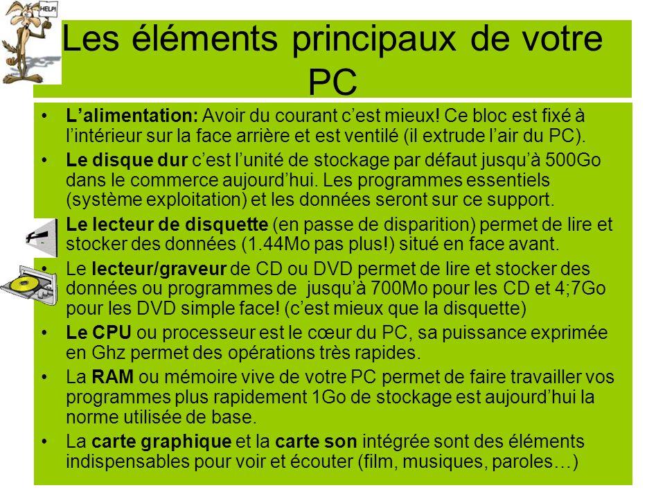 La carte mère du PC La carte mère : Cest la carte à circuits imprimés principale du système.