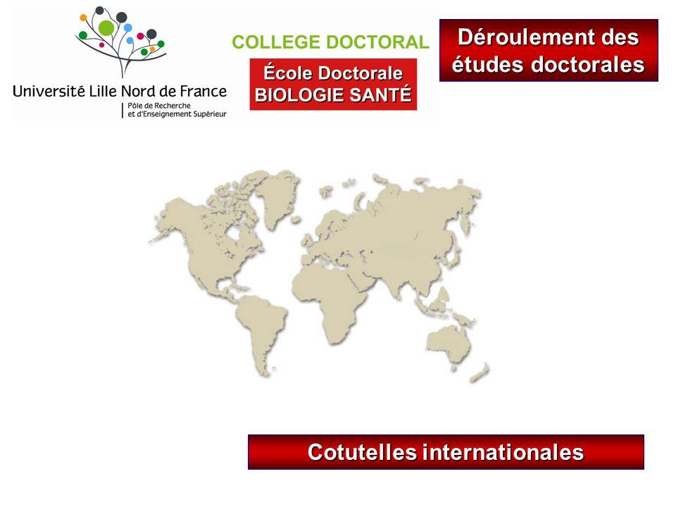 Cotutelles internationales Déroulement des études doctorales