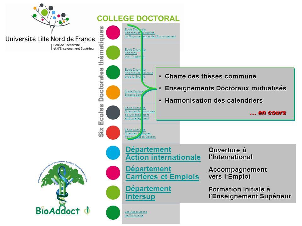 Ecole Doctorale Sciences de la Matière, du Rayonnement et de l'Environnement Ecole Doctorale Sciences pour l'Ingénieur Ecole Doctorale Sciences de l'H