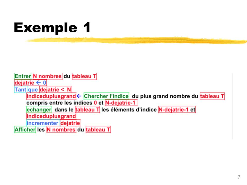 7 Exemple 1