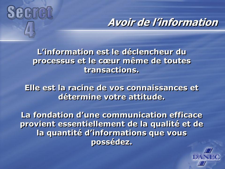 Linformation est le déclencheur du processus et le cœur même de toutes transactions.