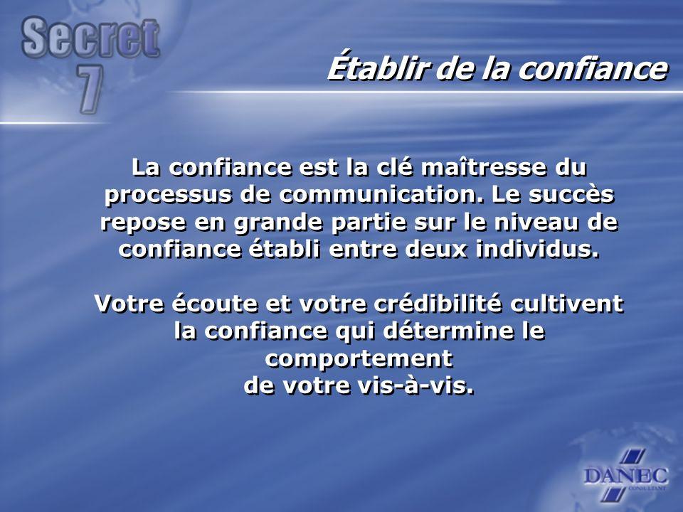 La confiance est la clé maîtresse du processus de communication.