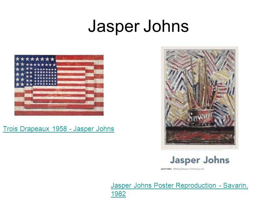 Jasper Johns Trois Drapeaux 1958 - Jasper Johns Jasper Johns Poster Reproduction - Savarin, 1982