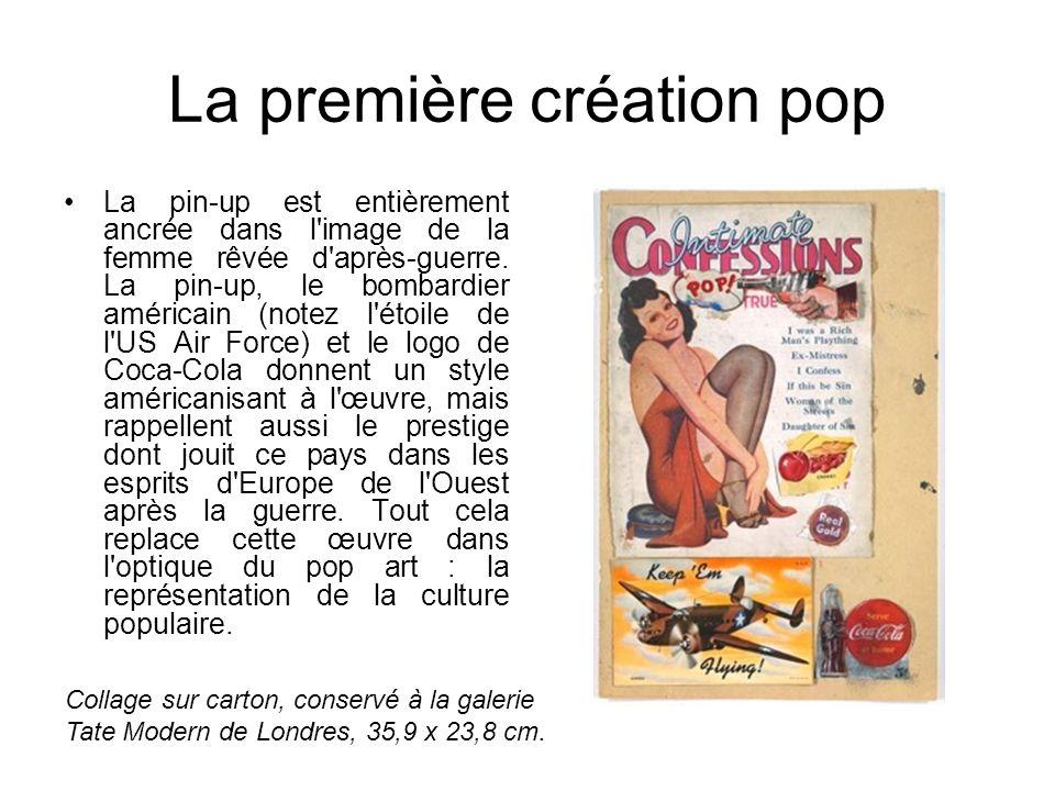 La première création pop La pin-up est entièrement ancrée dans l'image de la femme rêvée d'après-guerre. La pin-up, le bombardier américain (notez l'é