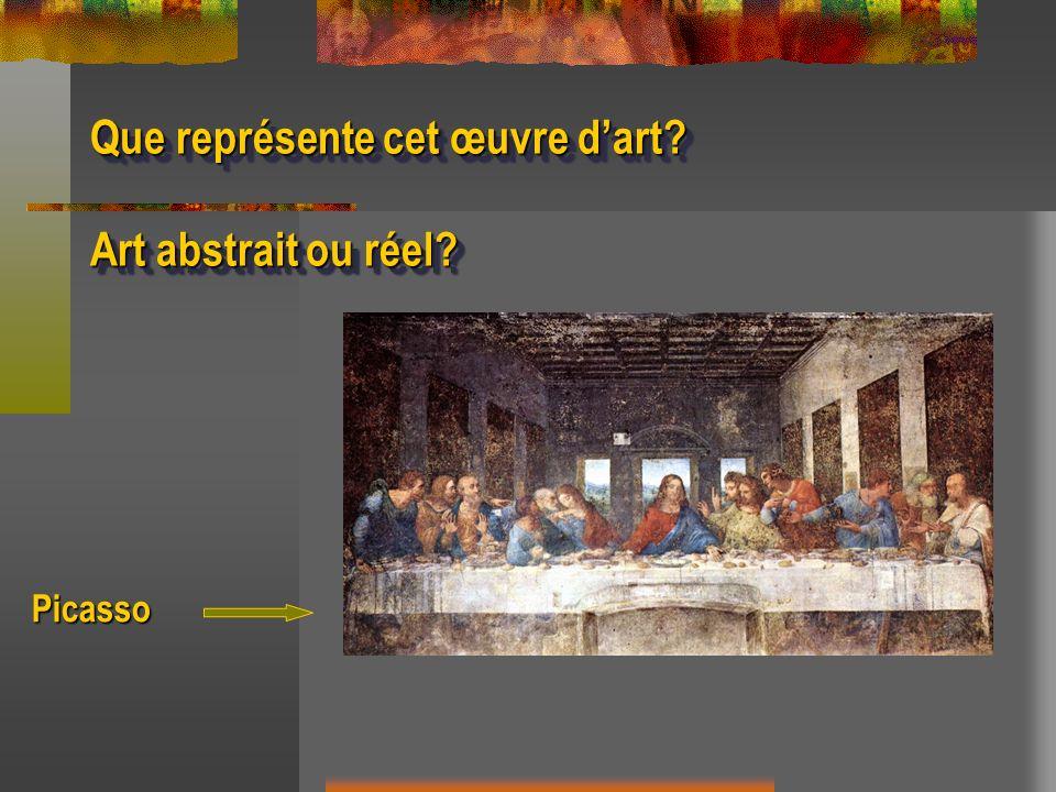 Que représente cet œuvre dart? Art abstrait ou réel? Que représente cet œuvre dart? Art abstrait ou réel? Picasso
