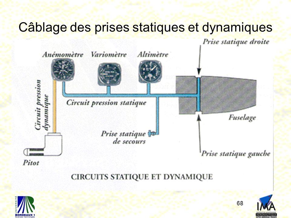 Câblage des prises statiques et dynamiques 68