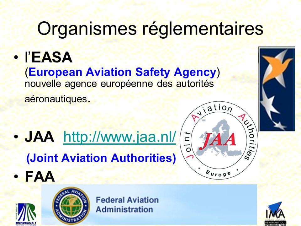 76 Organismes réglementaires lEASA (European Aviation Safety Agency) nouvelle agence européenne des autorités aéronautiques.
