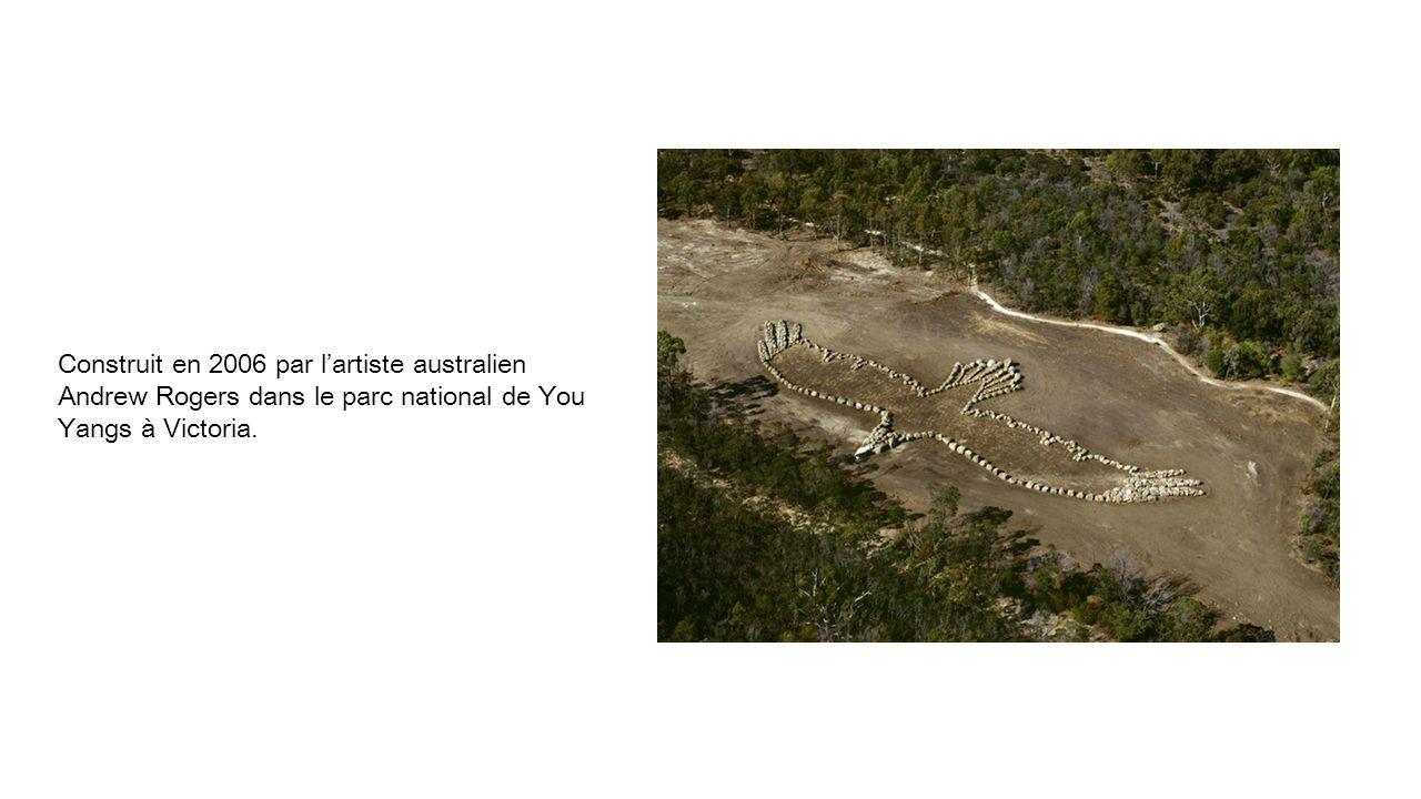 Construit en 2006 par lartiste australien Andrew Rogers dans le parc national de You Yangs à Victoria.