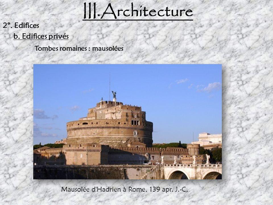 III. Architecture 2°. Edifices Privés Maison du Relief de Télèphe à Herculanum (Italie) Domus