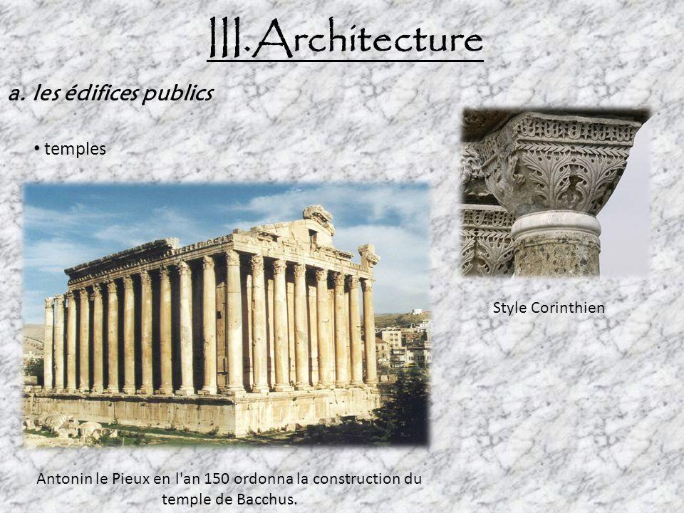 III.Architecture b.