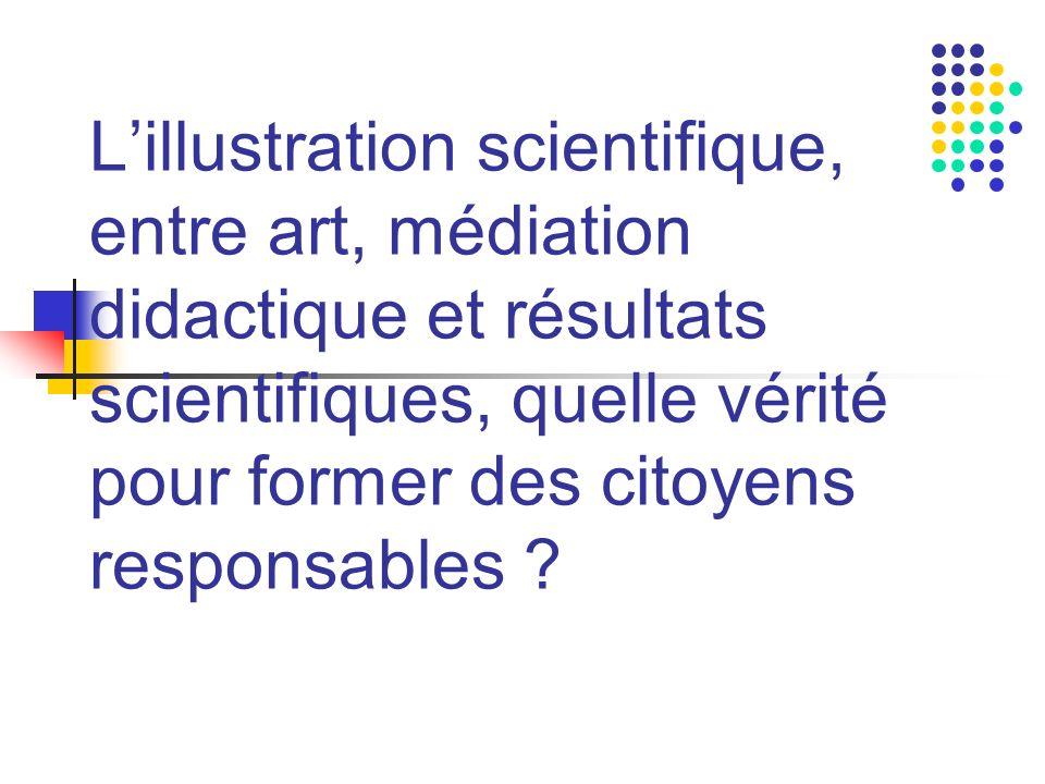 Lillustration scientifique, entre art, médiation didactique et résultats scientifiques, quelle vérité pour former des citoyens responsables ?