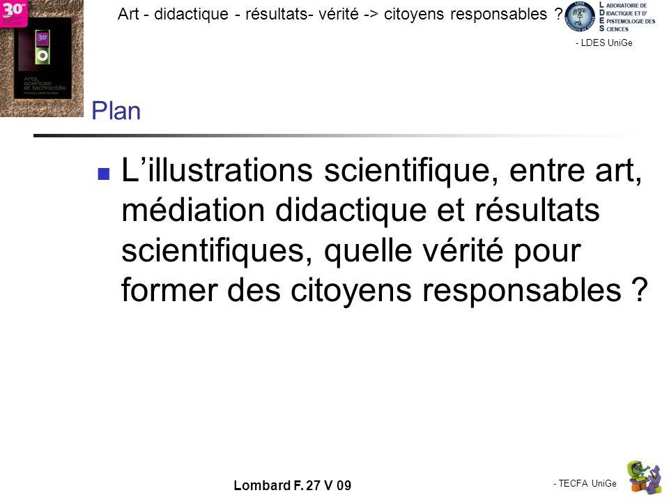 - TECFA UniGe Art - didactique - résultats- vérité -> citoyens responsables ? Chamonix - LDES UniGe Lombard F. 27 V 09 Plan Lillustrations scientifiqu
