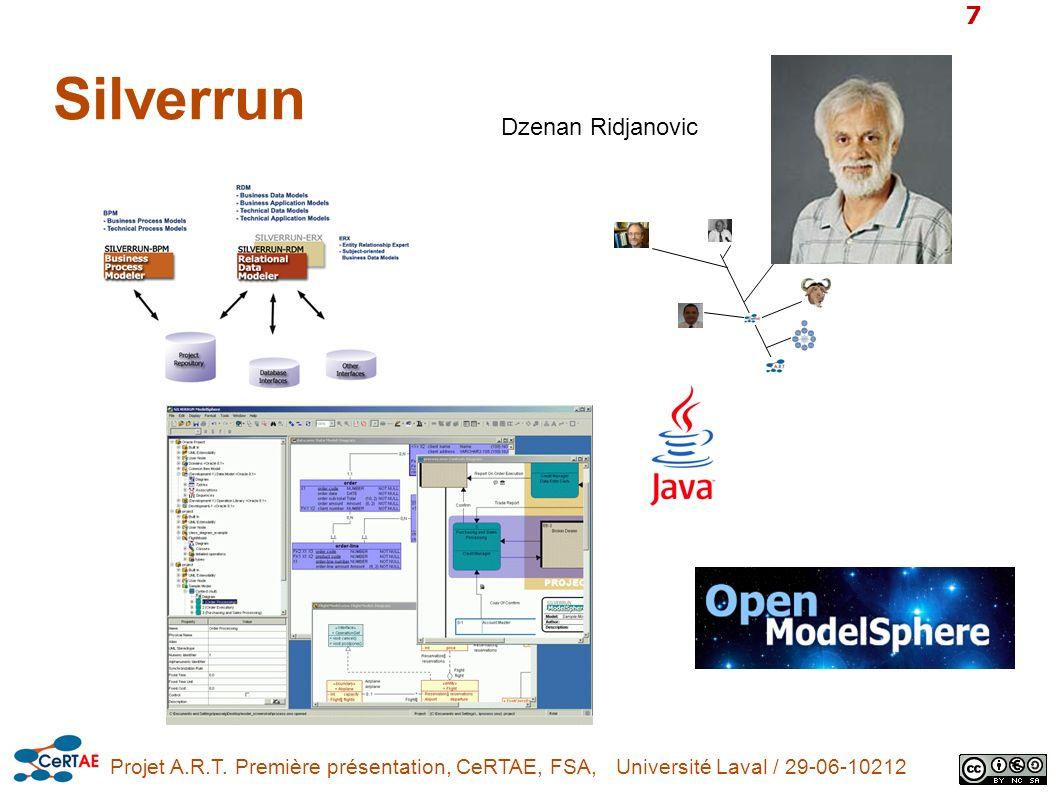 Projet A.R.T. Première présentation, CeRTAE, FSA, Université Laval / 29-06-10212 7 Silverrun Dzenan Ridjanovic