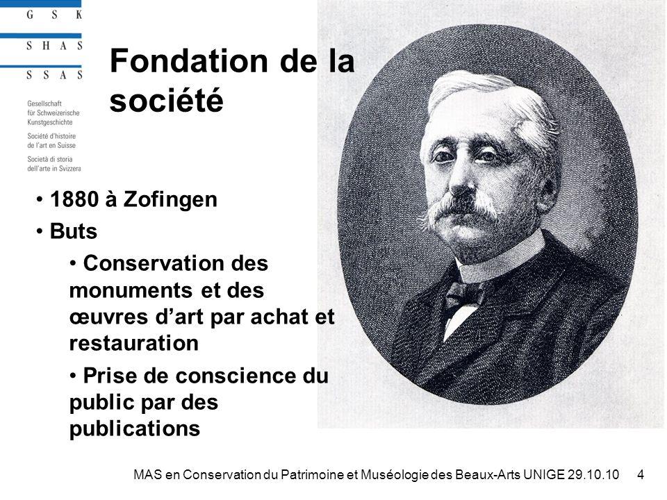 MAS en Conservation du Patrimoine et Muséologie des Beaux-Arts15