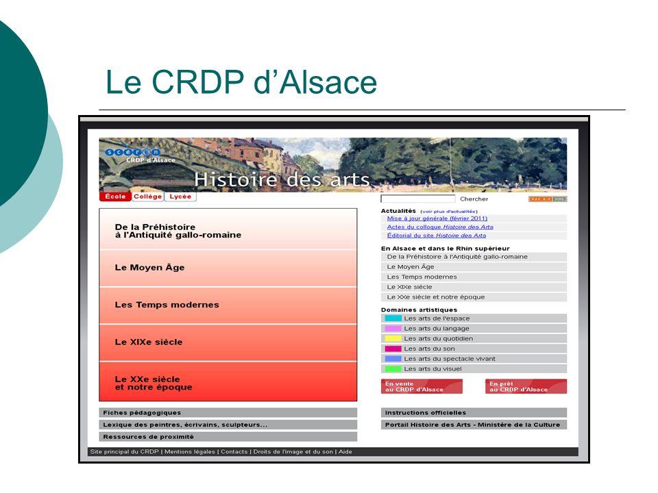 Le CRDP dAlsace