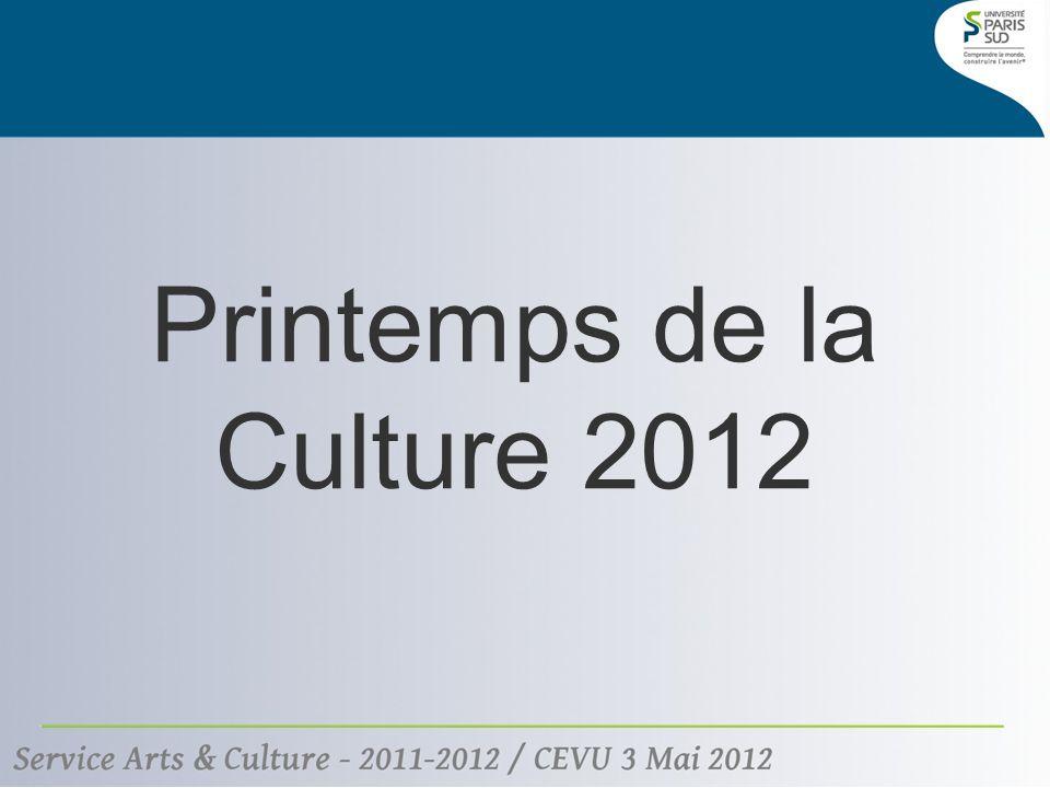 Printemps de la Culture 2012