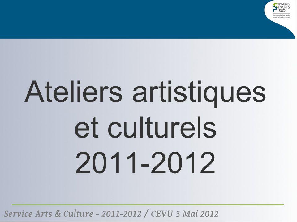 Ateliers artistiques et culturels 2011-2012