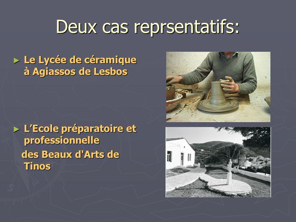 Deux cas reprsentatifs: Le Lycée de céramique à Agiassos de Lesbos Le Lycée de céramique à Agiassos de Lesbos LEcole préparatoire et professionnelle L