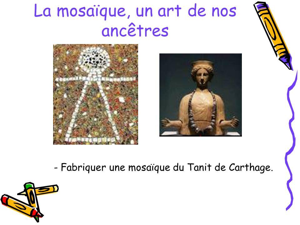 La mosaïque, un art de nos ancêtres - Fabriquer une mosaïque du Tanit de Carthage.
