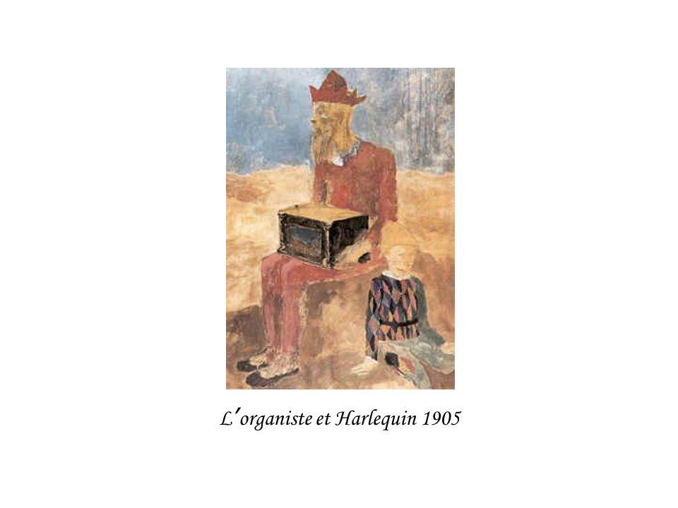 L organiste et Harlequin 1905