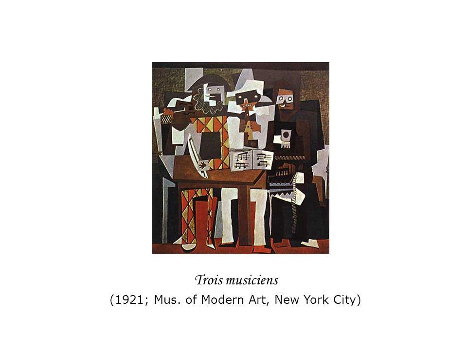 Trois musiciens (1921; Mus. of Modern Art, New York City)