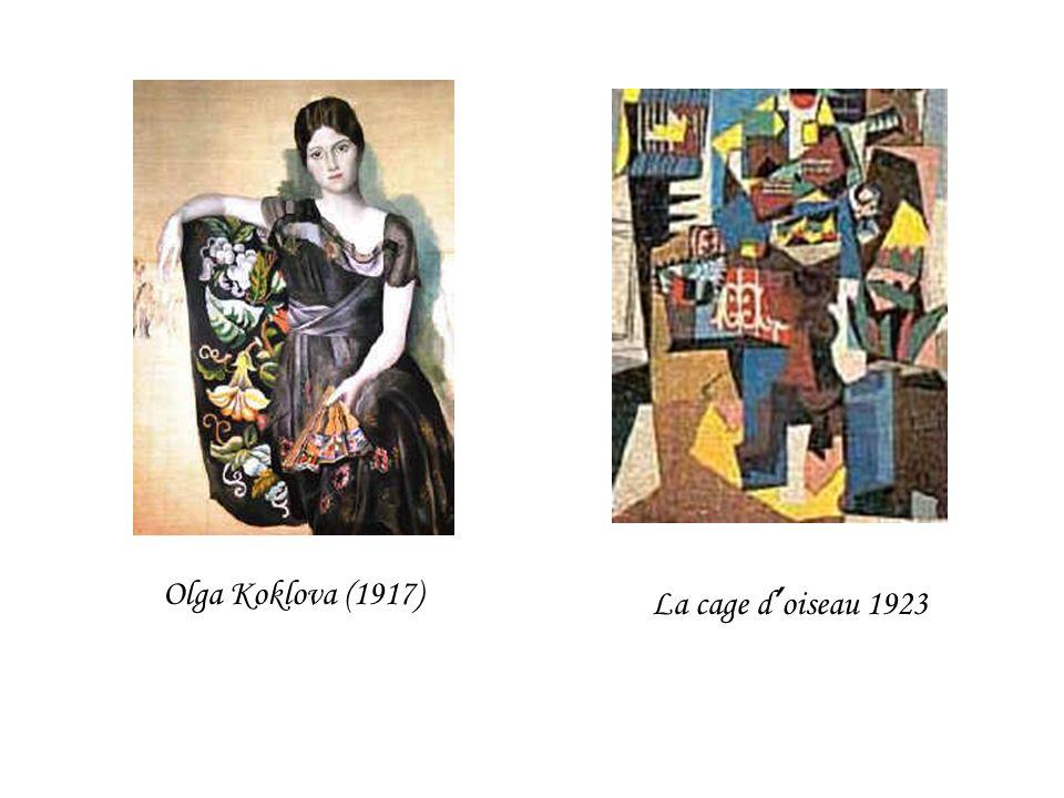 Olga Koklova (1917) La cage d oiseau 1923