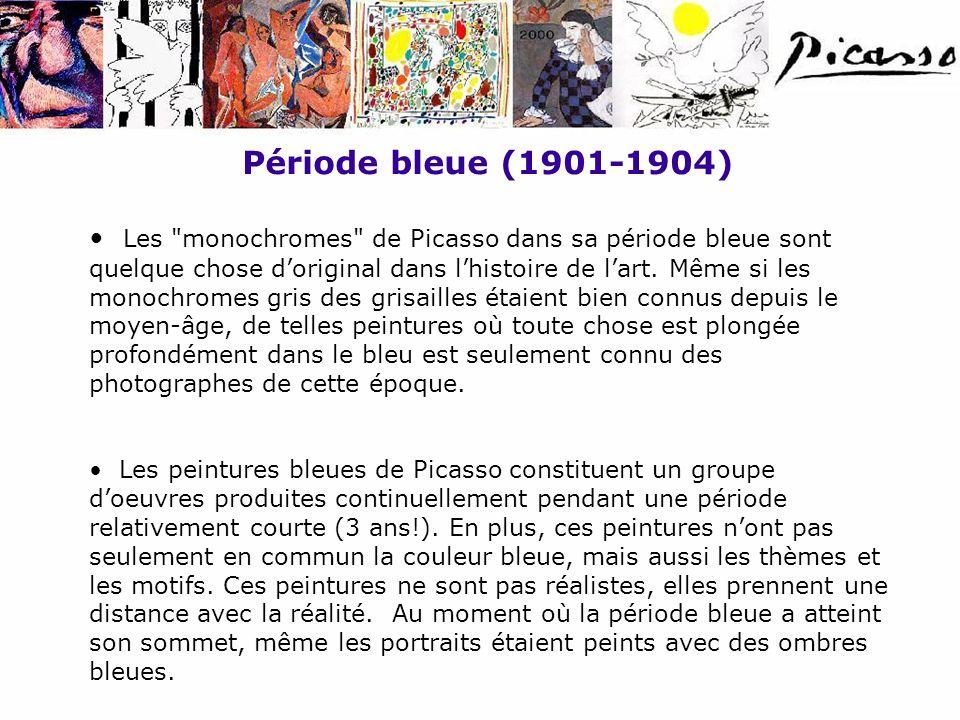 Période bleue (1901-1904) Les