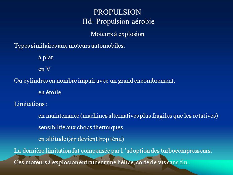 PROPULSION IIc- Propulsion aérobie Le renouveau de l hélice : le propfan S affranchir des limites propres aux hélices afin de rendre le turbopropulseu