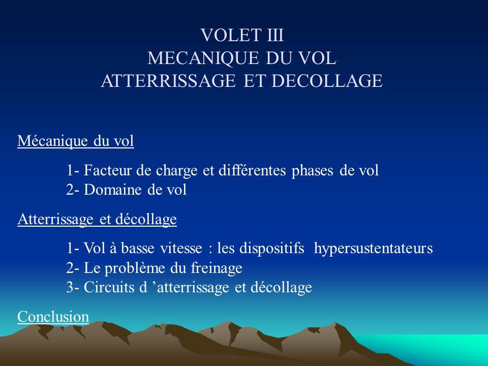 VOLET II CONTROLER LE VOL Pilotage longitudinal 1- Equilibre longitudinal 2- Empennage horizontal et gouverne de profondeur 3- Compensation des gouver