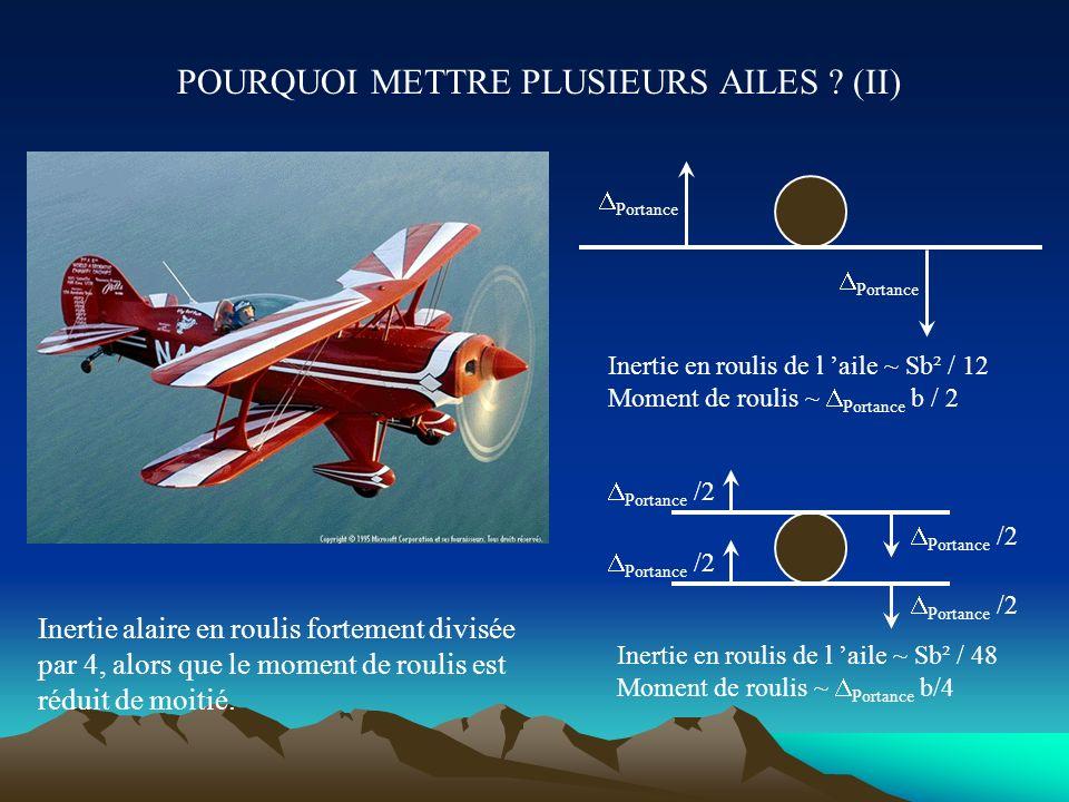 QUALITES DE VOL XIc- Manche, ailerons et spoilers Vol à basse vitesse : l efficacité des gouvernes aérodynamiques est faible. Les ailerons internes (2
