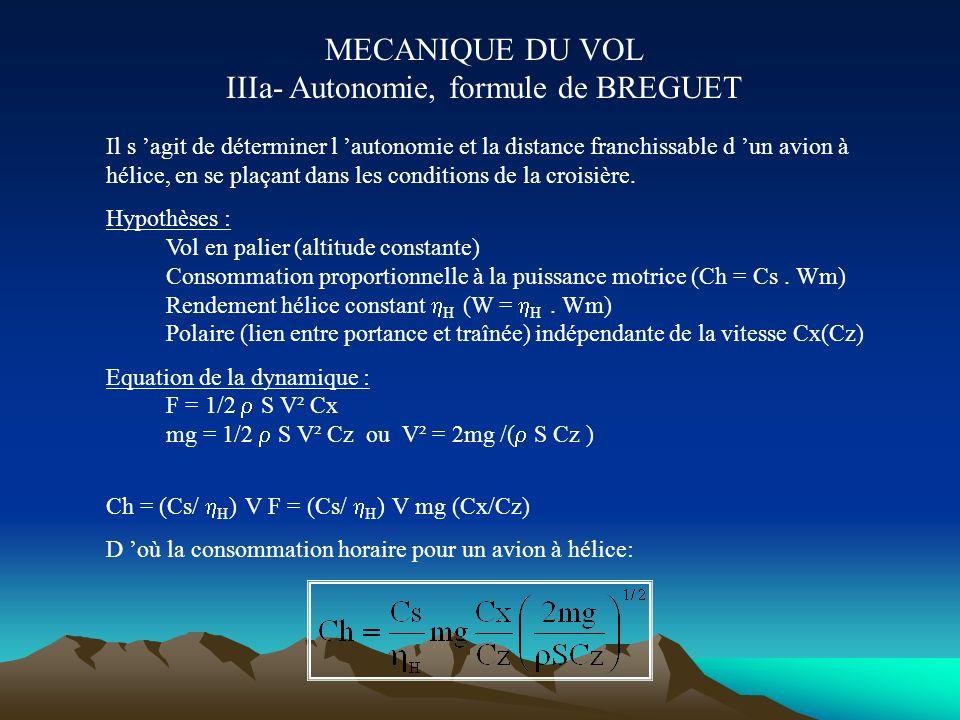 MECANIQUE DU VOL II- Croisière rectiligne symétrique en palier Croisière : vitesse constante Palier : altitude constante Rectiligne : la trajectoire e