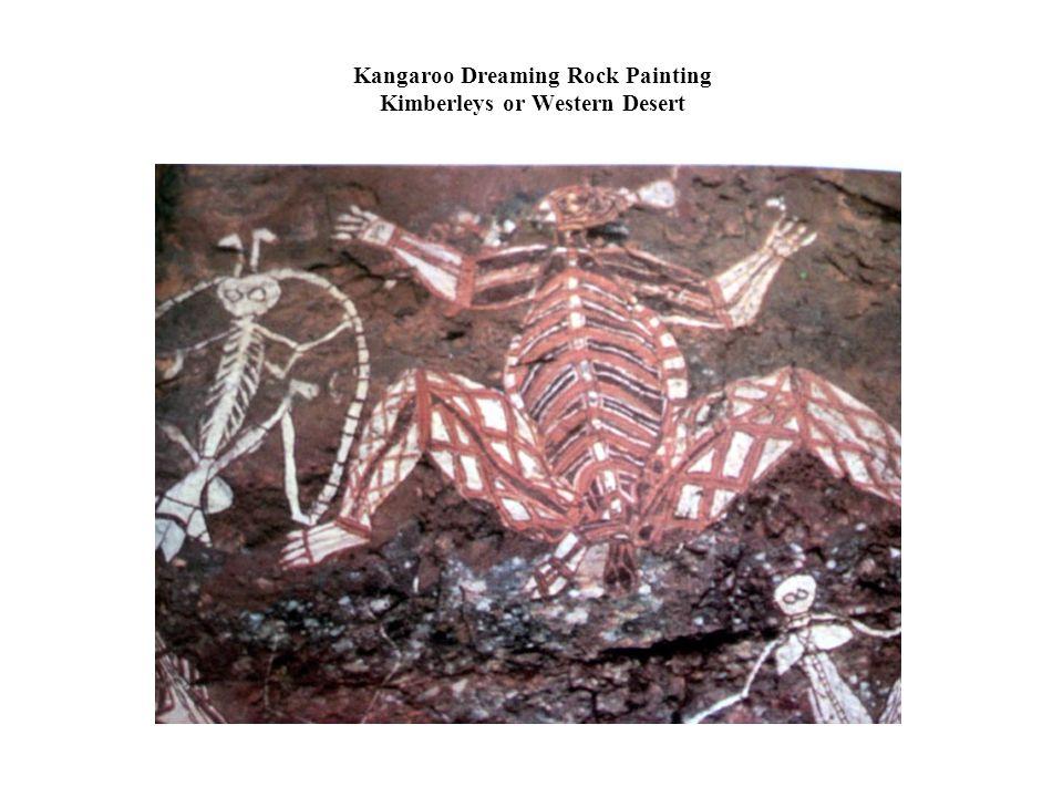 Kangaroo Dreaming Rock Painting Kimberleys or Western Desert