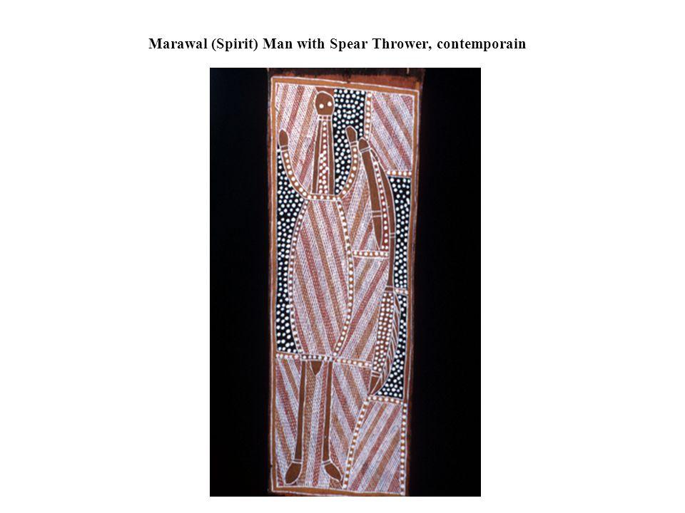 Marawal (Spirit) Man with Spear Thrower, contemporain
