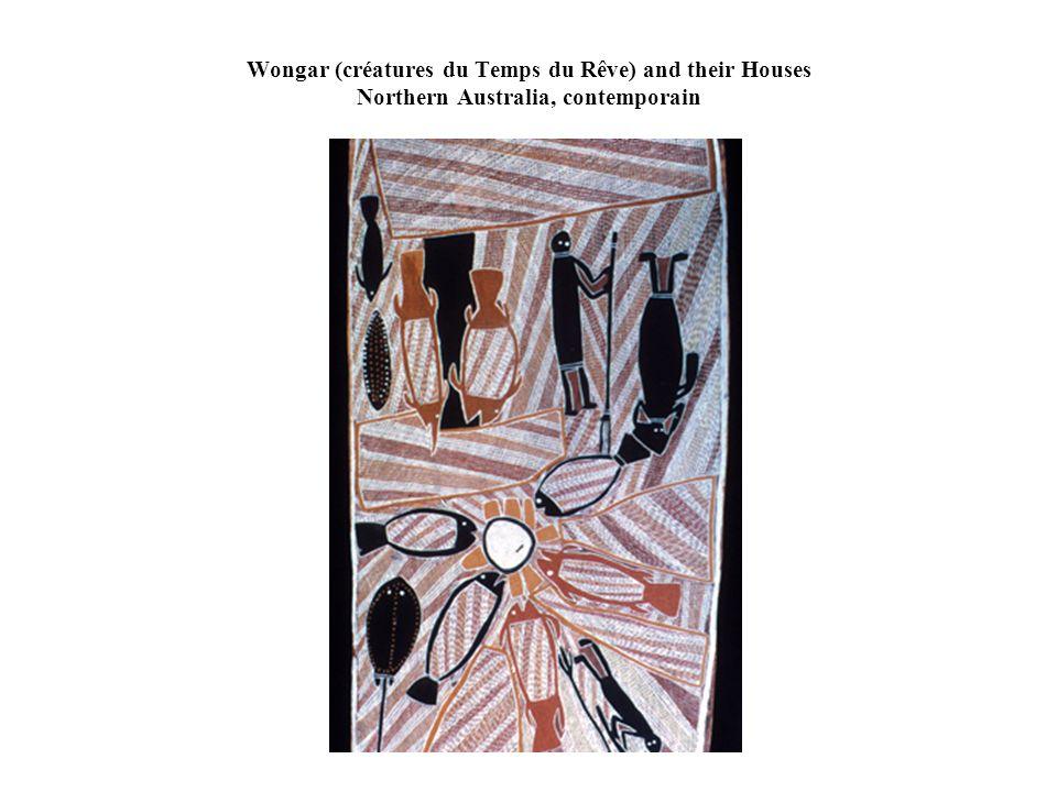 Wongar (créatures du Temps du Rêve) and their Houses Northern Australia, contemporain