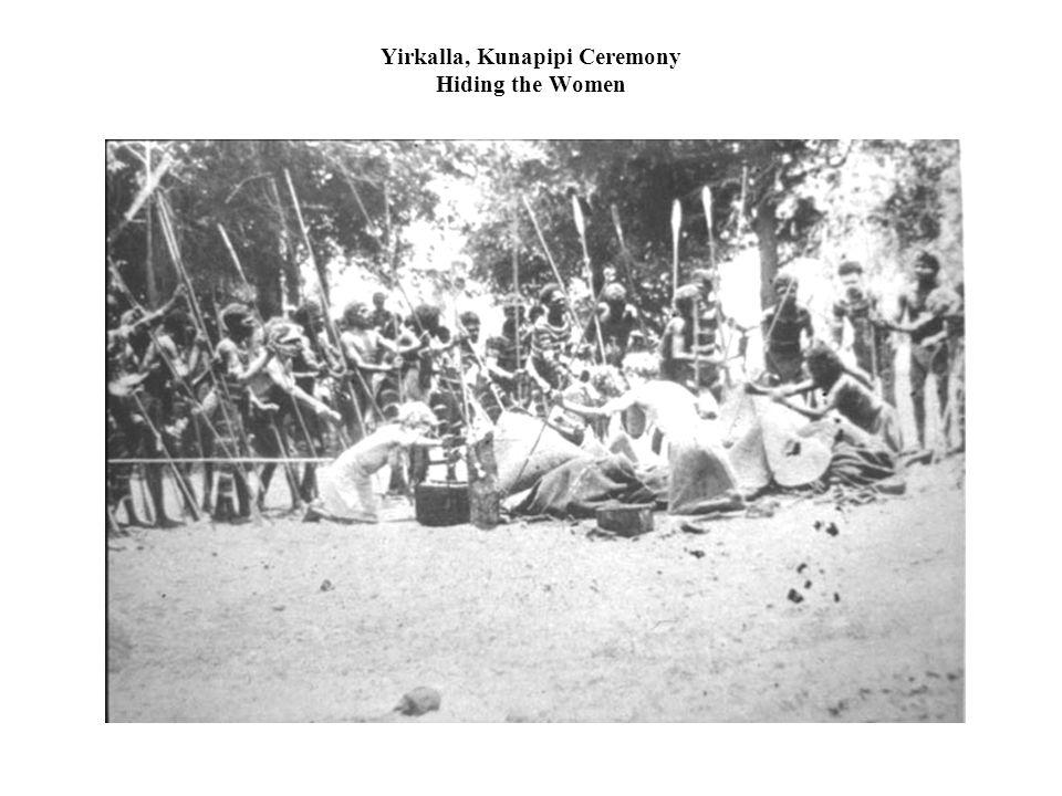 Yirkalla, Kunapipi Ceremony Hiding the Women