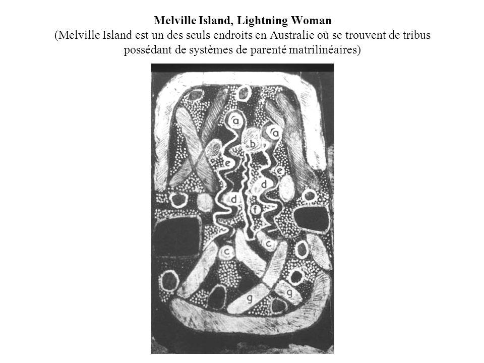 Melville Island, Lightning Woman (Melville Island est un des seuls endroits en Australie où se trouvent de tribus possédant de systèmes de parenté mat