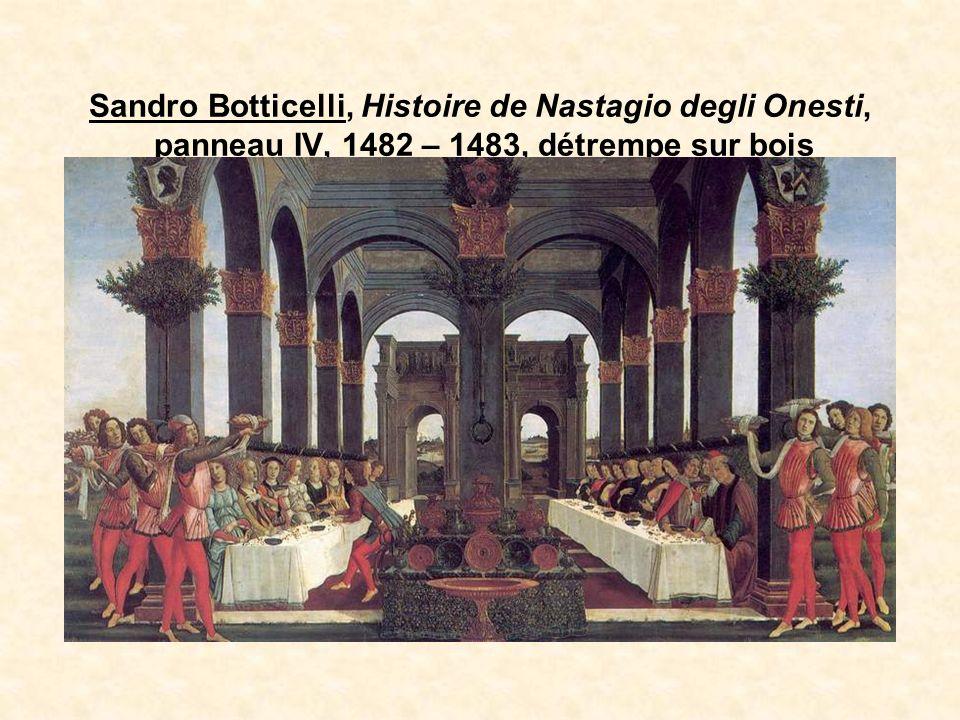 Sandro Botticelli, Histoire de Nastagio degli Onesti, panneau IV, 1482 – 1483, détrempe sur bois
