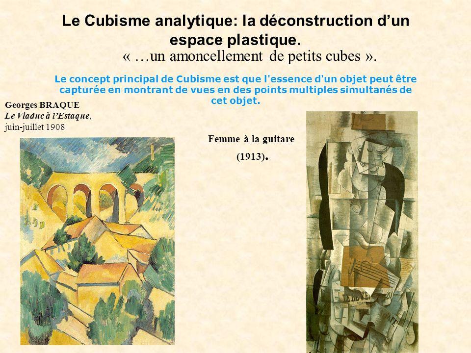 Le Cubisme analytique: la déconstruction dun espace plastique. Le concept principal de Cubisme est que l'essence d'un objet peut être capturée en mont