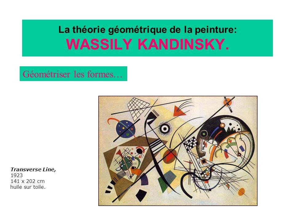 La théorie géométrique de la peinture: WASSILY KANDINSKY. Géométriser les formes… Transverse Line, 1923 141 x 202 cm huile sur toile.