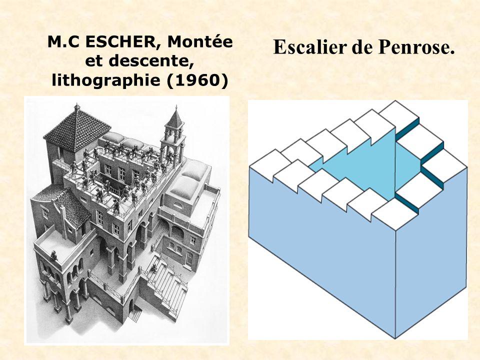 M.C ESCHER, Montée et descente, lithographie (1960) Escalier de Penrose.