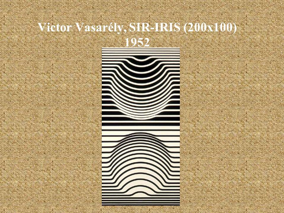 Victor Vasarély, SIR-IRIS (200x100) 1952