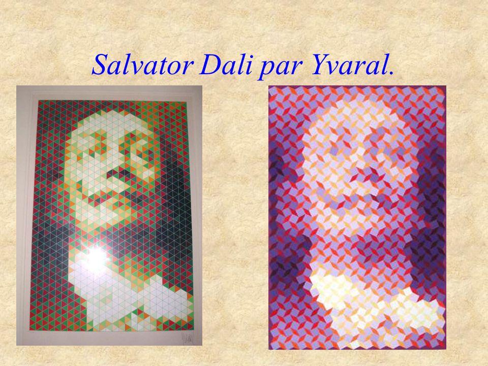 Salvator Dali par Yvaral.