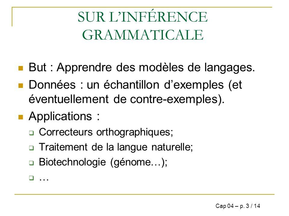 SUR LES DIFFÉRENTES GRAMMAIRES G=(V,A,R,S) représentant un langage; Hiérarchie de Chomsky: Grammaires Régulières (REG); Grammaires Hors-Contexte (CFG); Grammaires Sous-Contexte (CSG).
